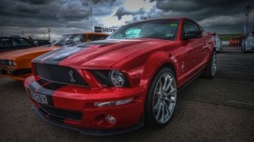ford mustang shelby gt500, ford mustang, red, sports car, hdr - wallpapers, picture