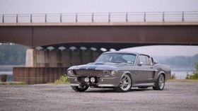 ford, gray, front view, bridge - wallpapers, picture