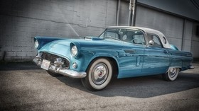 ford, thunderbird, 1956, blue, side view - wallpapers, picture
