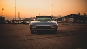 ford thunderbird 63, ford, machine, old, vintage, front view - wallpapers, picture