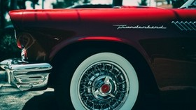 ford thunderbird, ford, bumper, wheel - wallpapers, picture