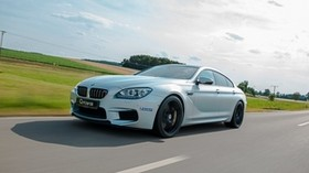 g-power, bmw, m6, speed, movement, side view - wallpapers, picture