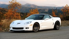 hennessey, chevrolet, corvette, zr1, c6, white, side view - wallpapers, picture
