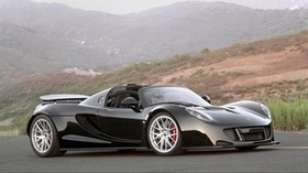 hennessey, venom, gt, spyder, black - wallpapers, picture