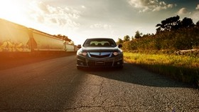 honda, accord, acura, tsx, front view - wallpapers, picture