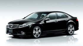 honda, accord, black, car - wallpapers, picture
