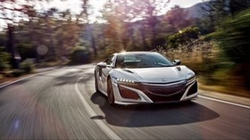 honda, acura, nsx, front view, speed - wallpapers, picture