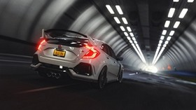 honda civic type r, honda type r, honda, tunnel, race - wallpapers, picture