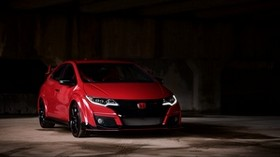 honda fk2, honda, car, red, front view, parking, dark - wallpapers, picture