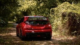 honda fk2 type r, honda, car, sports car, red, rear view - wallpapers, picture