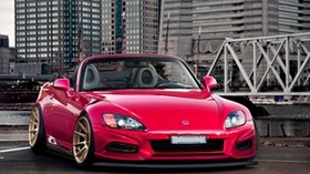 honda, city, red, front view, roadster, s2000 - wallpapers, picture