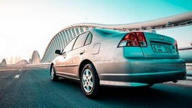 honda, honda civic, silver, movement - wallpapers, picture