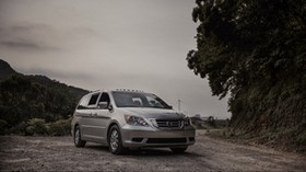 honda odyssey, honda, minivan, gray, metallic, family car - wallpapers, picture