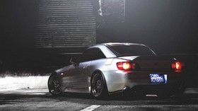 honda s2000, honda, rear view, night - wallpapers, picture