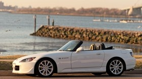 honda, s2000, convertible, white, side view - wallpapers, picture