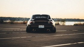 honda, s2000, rear view, black - wallpapers, picture