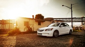honda, vossen, accord, tuning, white - wallpapers, picture
