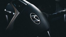hyundai, steering wheel, logo - wallpapers, picture