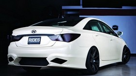 hyundai, sonata, white, rear view - wallpapers, picture