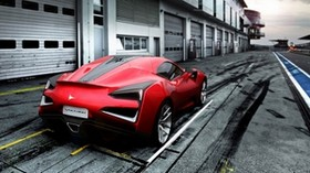icona, vulcano, red, rear view - wallpapers, picture