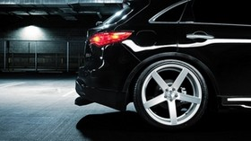 infiniti, fx 35 s, vossen, parking, black, drives - wallpapers, picture
