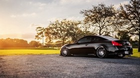 infiniti, g35, g37, black, nature, side view - wallpapers, picture
