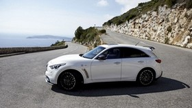 infiniti, quote, fx50, white, side view, rotation - wallpapers, picture