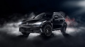 infiniti qx70, infiniti, crossover, black - wallpapers, picture