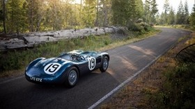 jaguar, c-type, 1951, sports car, side view - wallpapers, picture