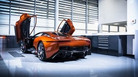 jaguar c-x75, jaguar, sports car, side view - wallpapers, picture