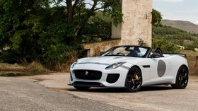 jaguar, f-type, project 7, white, side view - wallpapers, picture