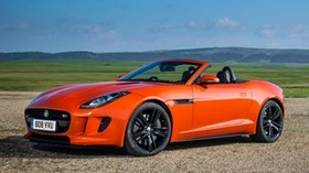 jaguar, f-type, v8 s, convertible, red - wallpapers, picture