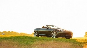 jaguar, f-type, v8 s, convertible, side view - wallpapers, picture