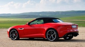 jaguar, f-type, v8 s, side view, red - wallpapers, picture