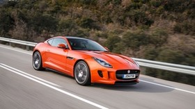jaguar, f-type, side view, motion - wallpapers, picture