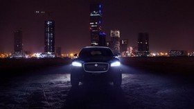 jaguar f-pace, jaguar, SUV, luxury, lights, night city - wallpapers, picture