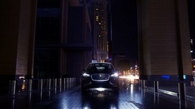 jaguar f-pace, jaguar, SUV, lights, night city, light - wallpapers, picture