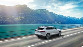 jaguar f-pace, jaguar, SUV, movement, mountains - wallpapers, picture