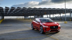 jaguar i-pace, jaguar, crossover, red - wallpapers, picture