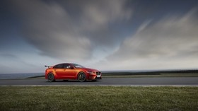 jaguar xe sv project 8, jaguar, road, side view - wallpapers, picture