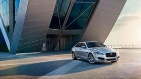 jaguar, xf, prestige, silver, side view - wallpapers, picture