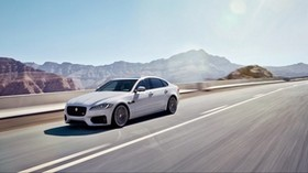 jaguar, xf s, awd, white, side view, motion - wallpapers, picture