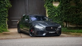 jaguar, xf, side view - wallpapers, picture