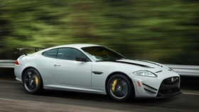 jaguar, xkr-s, gt, white, side view - wallpapers, picture