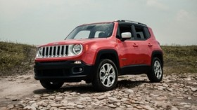 jeep renegade, jeep, car, SUV, red, side view, off-road - wallpapers, picture
