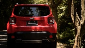 jeep renegade, jeep, car, red, SUV, rear view - wallpapers, picture