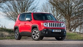 jeep, renegade, limited, uk-spec, red, side view - wallpapers, picture