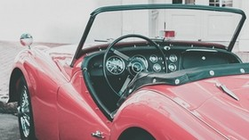 convertible, retro, side view, interior - wallpapers, picture