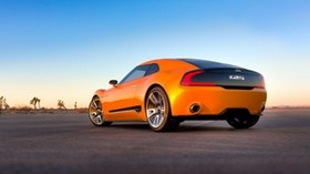 kia gt4, sports car, orange, side view - wallpapers, picture