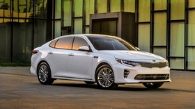 kia, optima, white, side view - wallpapers, picture